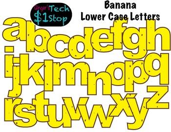 FRUITY BANANA * Bulletin Board Letters * Lower Case * Alphabet
