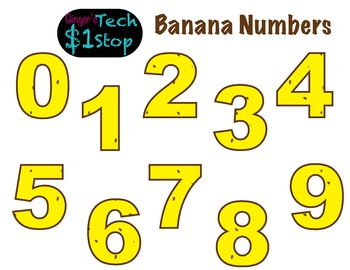 FRUITY BANANA * Bulletin Board Letters * Numbers * 0123456789