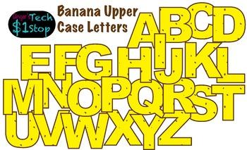FRUITY BANANA * Bulletin Board Letters * Upper Case * Alphabet * Fruity