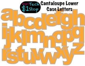 FRUITY CANTALOUPE * Bulletin Board Letters * Lower Case * Alphabet