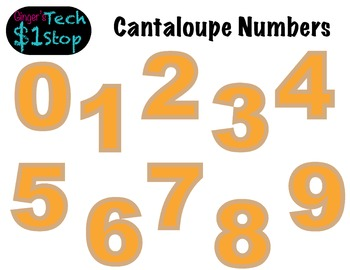 FRUITY CANTALOUPE * Bulletin Board Letters * Numbers * 0123456789