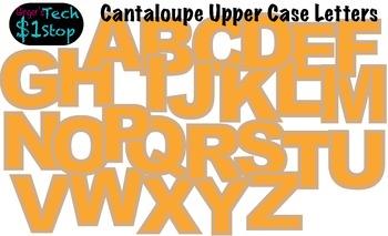 FRUITY CANTALOUPE * Bulletin Board Letters * Upper Case * Alphabet * Fruity
