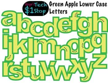 FRUITY GREEN APPLE * Bulletin Board Letters * Lower Case * Alphabet