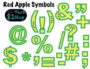 FRUITY GREEN APPLE * Bulletin Board Letters * Symbols * Punctuation