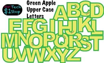 FRUITY GREEN APPLE * Bulletin Board Letters * Upper Case * Alphabet * Fruity