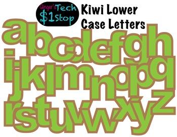 FRUITY KIWI * Bulletin Board Letters * Lower Case * Alphabet