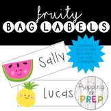 FRUITY NAME LABELS