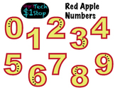 FRUITY RED APPLE * Bulletin Board Letters * Numbers * 0123456789