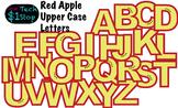 FRUITY RED APPLE * Bulletin Board Letters * Upper Case * Alphabet * Fruity