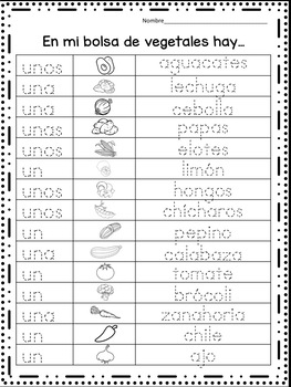 FRUTAS Y VERDURAS FLASHCARDS AND WORKSHEETS