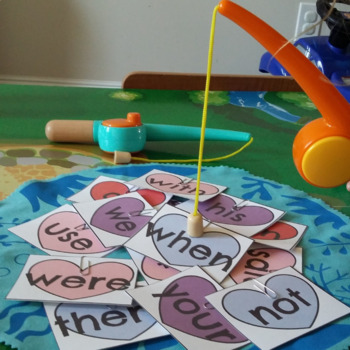 FRY 1-100 Sight Word Cards Valentine's Day