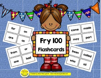 FRY 100 Words Flashcards