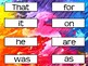 FRY 1000 SIGHT WORDS- Colorful/Rainbow