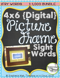 Word Wall FRY BUNDLE 1-1,000 Digital Picture Frame Sight Words 4X6