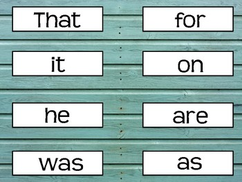 FRY FIRST 200 SIGHT WORDS- TURQUOISE SHIPLAP/RUSTIC/FARMHOUSE