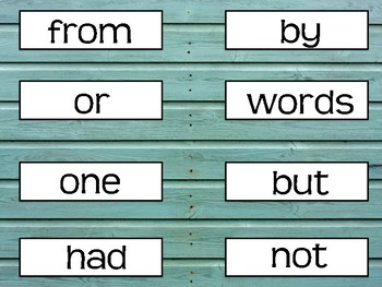 FRY FIRST 300 SIGHT WORDS- TURQUOISE SHIPLAP/RUSTIC/FARMHOUSE