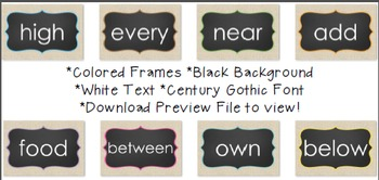 FRY FREEBIE Digital Picture Frame Sight Words 4X6