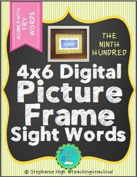 FRY NINTH HUNDRED Digital Picture Frame Sight Words 4X6