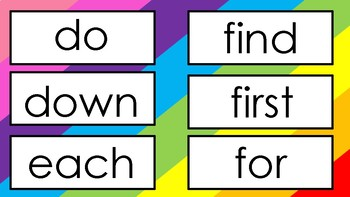 FRY'S First three hundred sight word flash cards