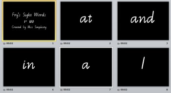 FRY'S SIGHT WORDS – DIGITAL FLASHCARDS (power point) 1st 100 words in Vic Mod