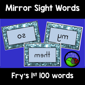 FRY'S sight words MIRROR mirrored WORDS 1st 100 words