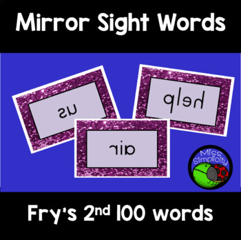 FRY'S sight words MIRROR mirrored WORDS 2nd 100 words