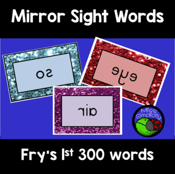 FRY'S sight words MIRROR mirrored WORDS 300 words BUNDLE