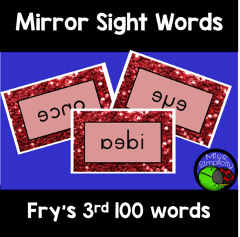 FRY'S sight words MIRROR mirrored WORDS 3rd 100 words
