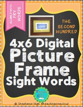 FRY SECOND HUNDRED Digital Picture Frame Sight Words 4X6