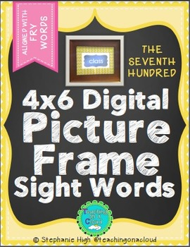 FRY SEVENTH HUNDRED Digital Picture Frame Sight Words 4X6