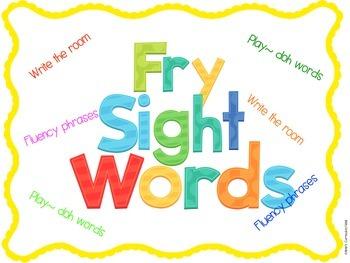 FRY SIGHT WORDS ~ ACTIVITIES BUNDLE