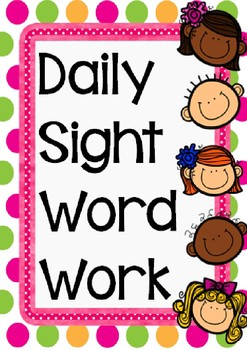 KINDERGARTEN GRADE 1 DAILY WORD WORK - 50 PAGES!