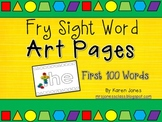 {FRY} Sight Word Art Pages