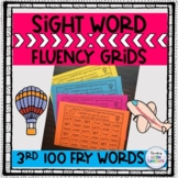 FRY Sight Word Fluency Grids and Tracking Sheets (3rd 100)