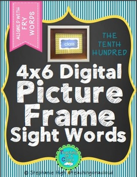 FRY TENTH HUNDRED Digital Picture Frame Sight Words 4X6