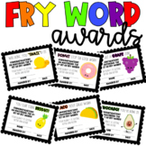 FRY WORD AWARDS 7-12