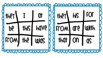 FRY WORD TIC-TAC-TOE