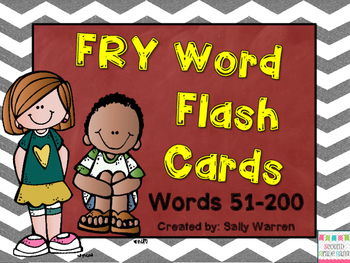 FRY Word Flash Cards List 51-200 {First Grade}