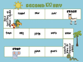 FRY Word Safari: First and Second 100 Words