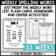 FRY Word Spelling Word List, Homework, & Center Year-Long BUNDLE