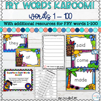 Sight Words Game and Resources ~ Fry Words 1-100