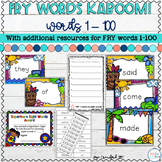 Sight Words Game and Resources Fry Words 1-100 | Distance
