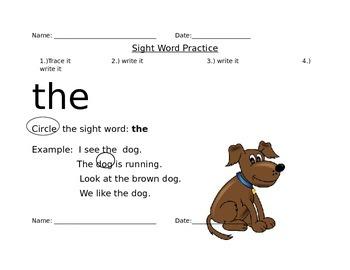 FRY Words 1-20
