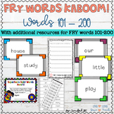 Sight Words Game and Resources for Fry Words 101-200