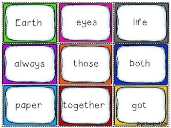 Sight Words Game and Resources ~ FRY Words 201-300