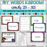 Sight Words Game and Resources for FRY Words 201-300