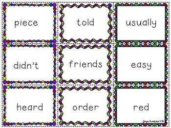 Sight Words Game and Resources ~ FRY Words (301-400)