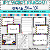 Sight Words Game and Resources for FRY Words 301-400