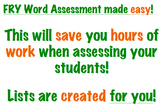 FRY word assessment 1-1000. Click on mispronounced word, list is created!