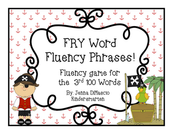 FRY words/Sight Words/High Frequency Words Fluency Game {3